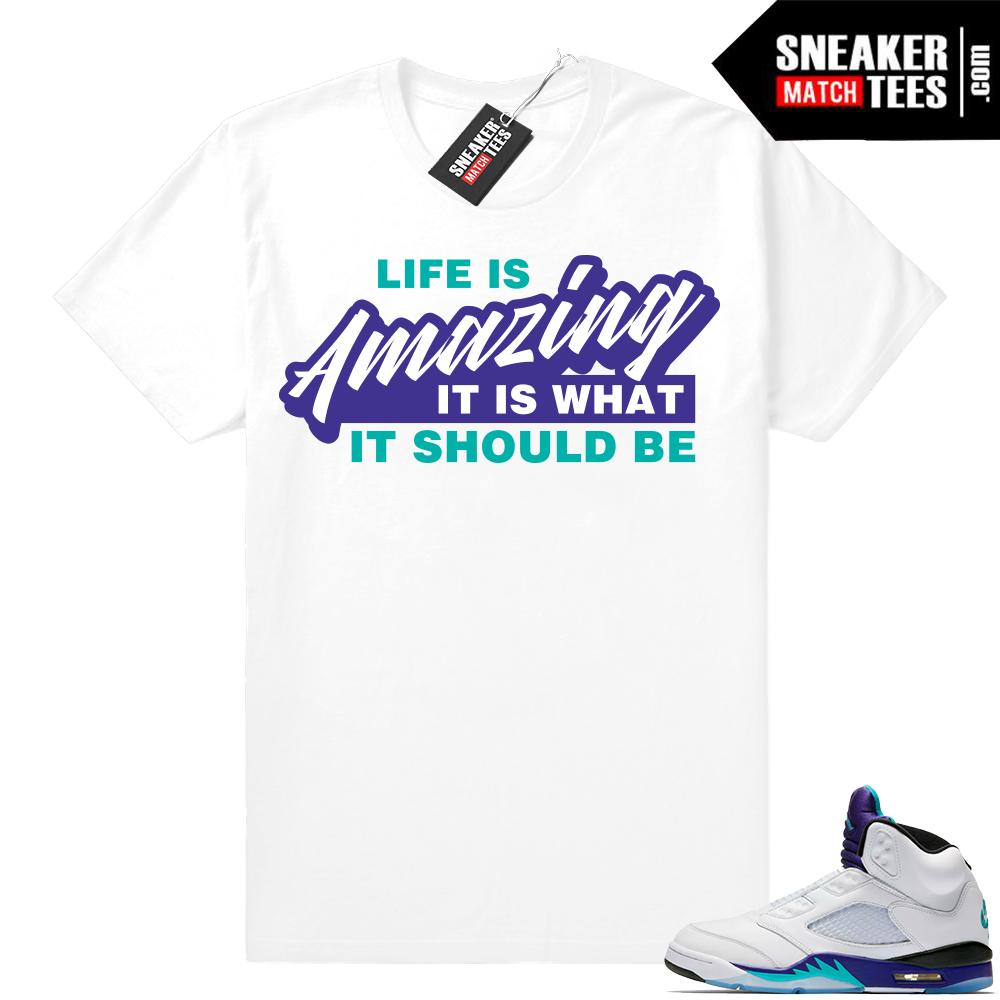 Match Air Jordan retro 5 Fresh Prince Shirt