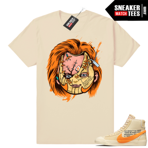 Match All Hallows Eve Off White Nike Blazer Tan shirt