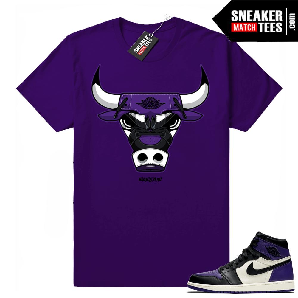 Match Court Purple 1 Jordan Retro shirt