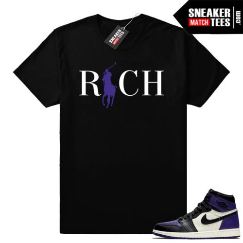 Match Jordan 1 Court Purple Shirt