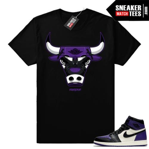 Match Jordan 1 Court Purple Sneaker shirt