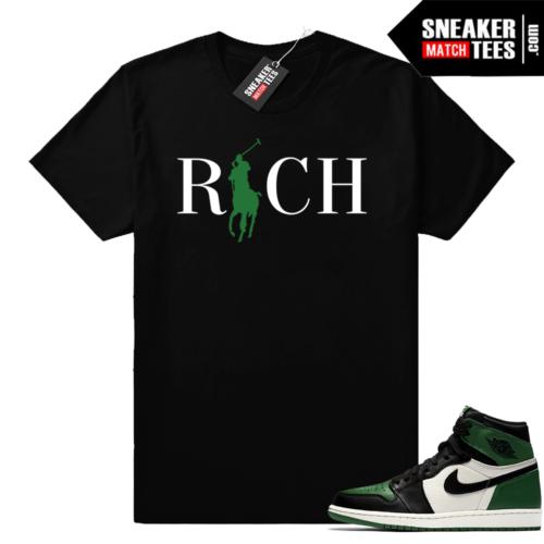 Match Jordan 1 Pine Green shirt