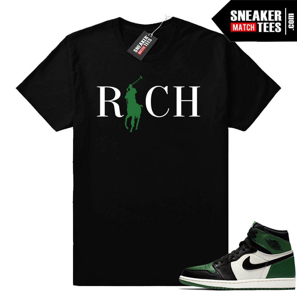 Match Jordan 1 Pine Green shirt