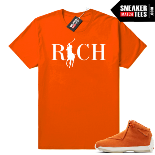 Match Jordan 18 Orange Suede