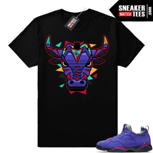 Match Jordan 7 Concord low shirt