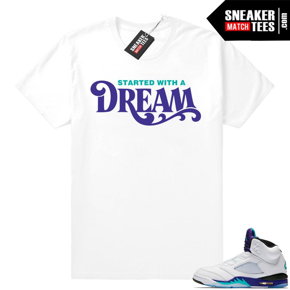 Match Jordan Retro 5 Fresh Prince shirt