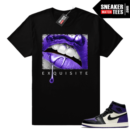 Matching Court Purple 1s shirt