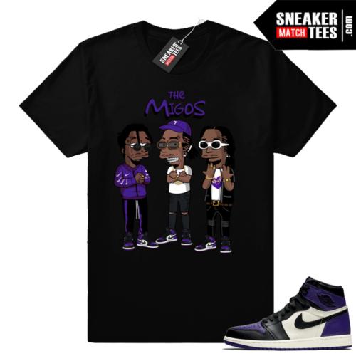 Migos t shirt Court Purple 1s