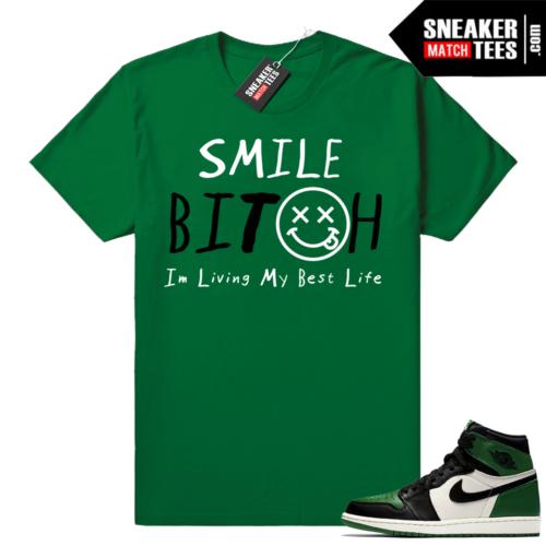 Pine Green 1s matching shirt