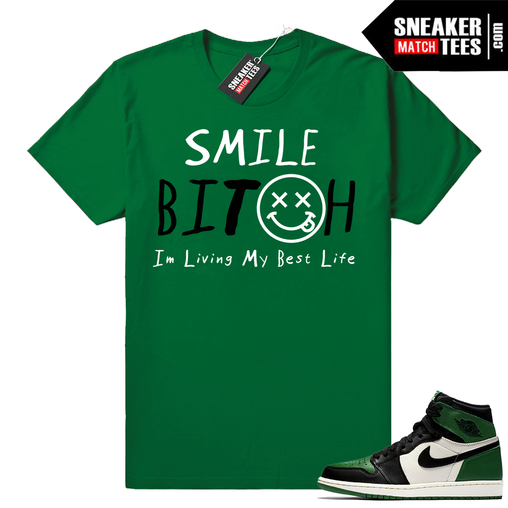Pine Green 1s matching shirt