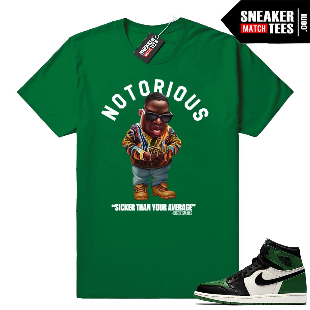 Pine Green 1s sneaker shirt