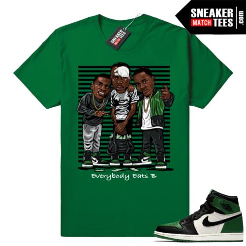 Pine Green 1s sneaker tee shirts