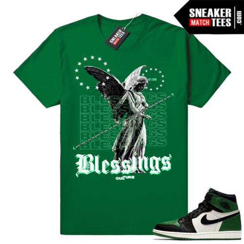 Pine Green 1s sneaker tees match