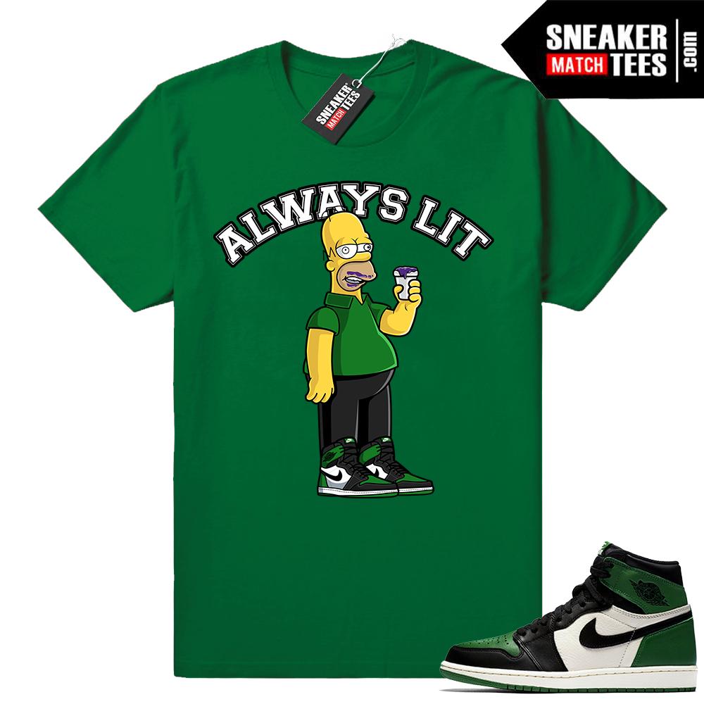 Pine Green 1s streetwear shirt