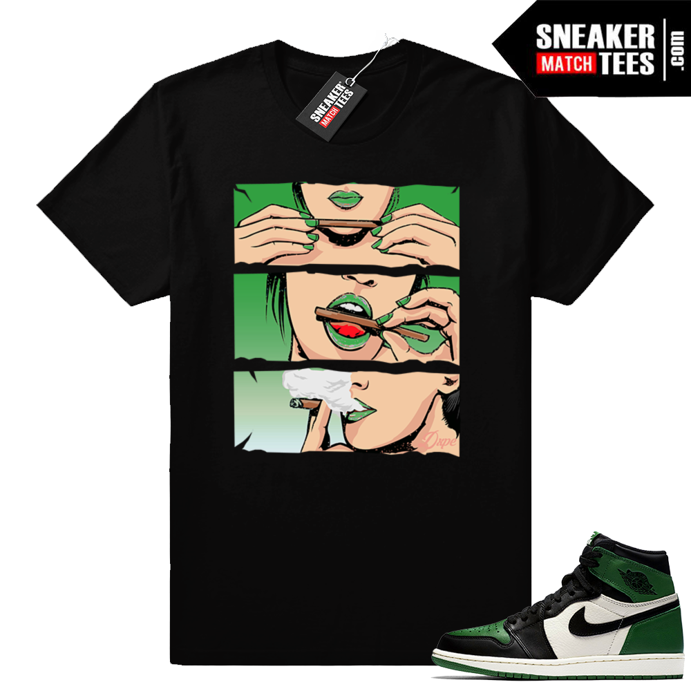 Pine Green Jordan retro 1 shirt