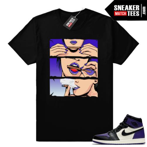 Purple Jordan 1 sneaker match