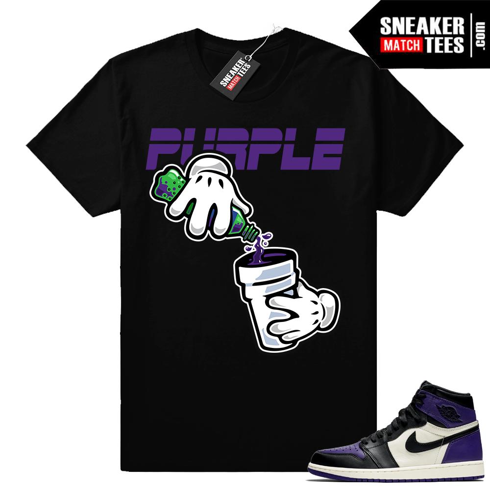 Purple Jordan 1 shirt match