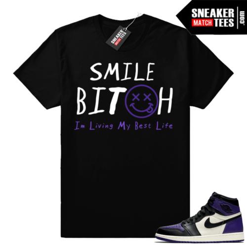 Purple Jordan 1s match shirt