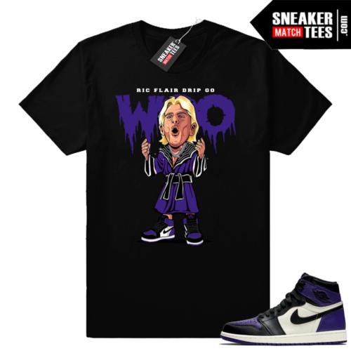 Ric Flair Drip Jordan 1 Court Purple Shirt