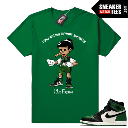 Sneakerhead Pinocchio Pine Green 1s