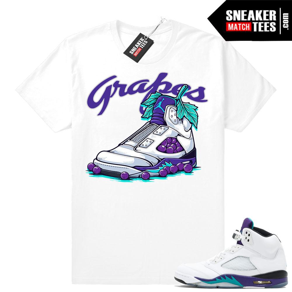 T shirts matching Grape 5s Jordan Retros