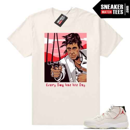 Air Jordan 11 Platinum Tint Scarface shirt