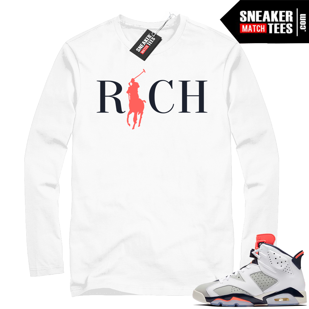 Air Jordan 6 Tinker infrared white shirt