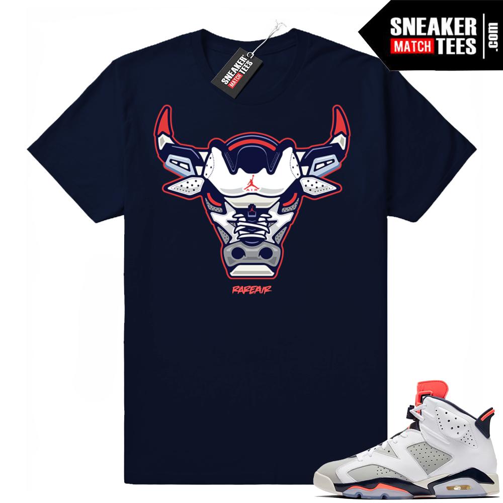 Air Jordan 6 retro Tinker shirt match