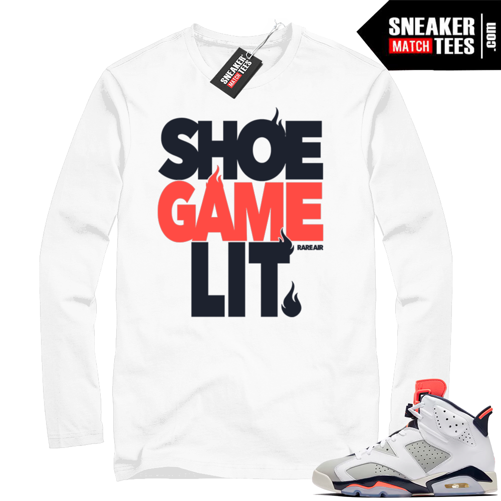 Air Jordan 6 sneaker tee shirt
