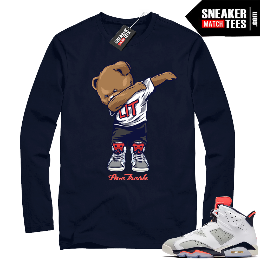 Air jordan 6 Tinker navy shirt