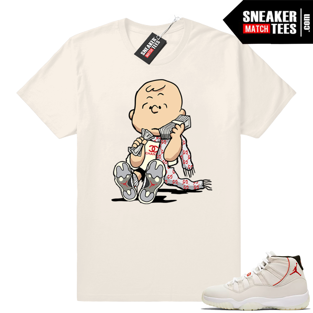 Designer Charlie Brown Jordan 11 T-shirt