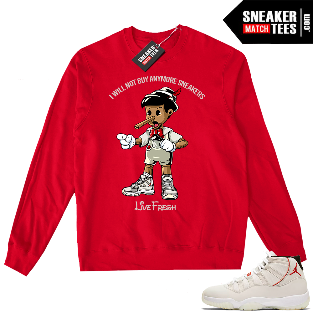 Jordan 11 Crewneck Sweater Sneakerhead Pinocchio