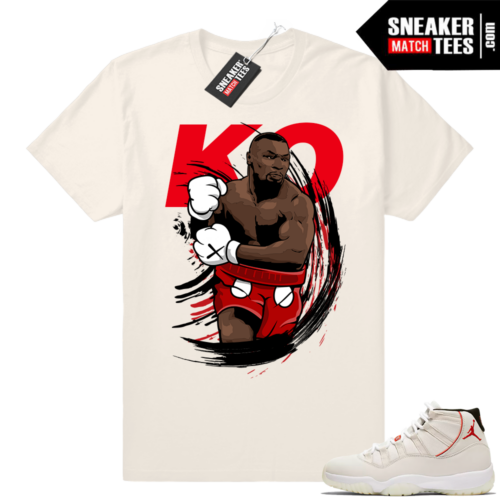 Jordan 11 Platinum 11 Mike Tyson KO t-shirt