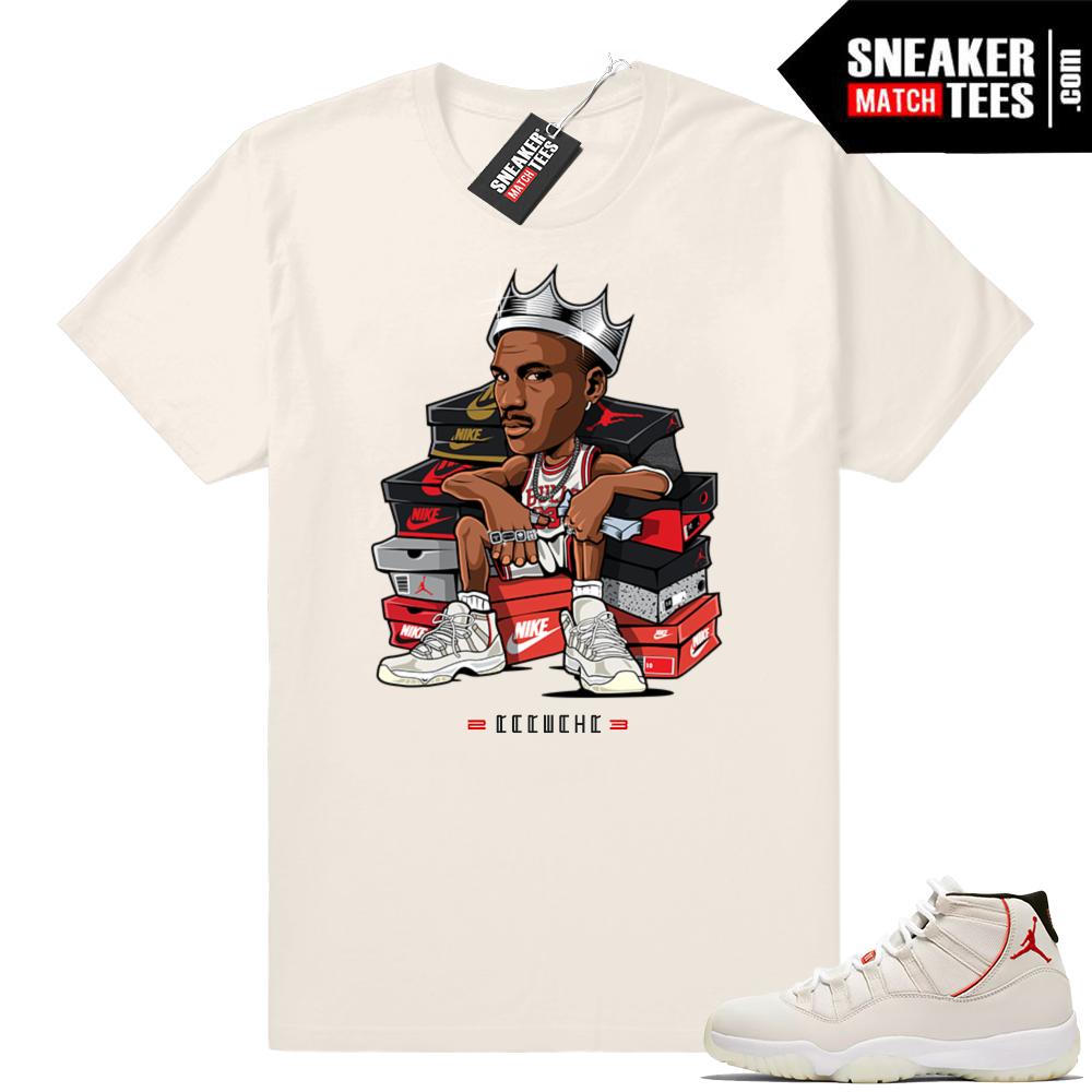 Jordan 11 Platinum Tint MJ Sneaker King T-shirt
