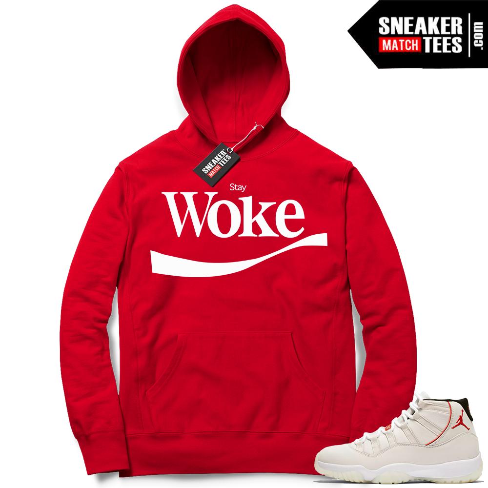 Jordan 11 Platinum Tint Stay Woke Hoodie