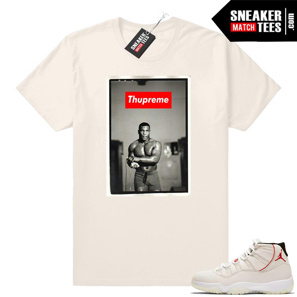 Jordan 11 Platinum Tint THUPREME shirt