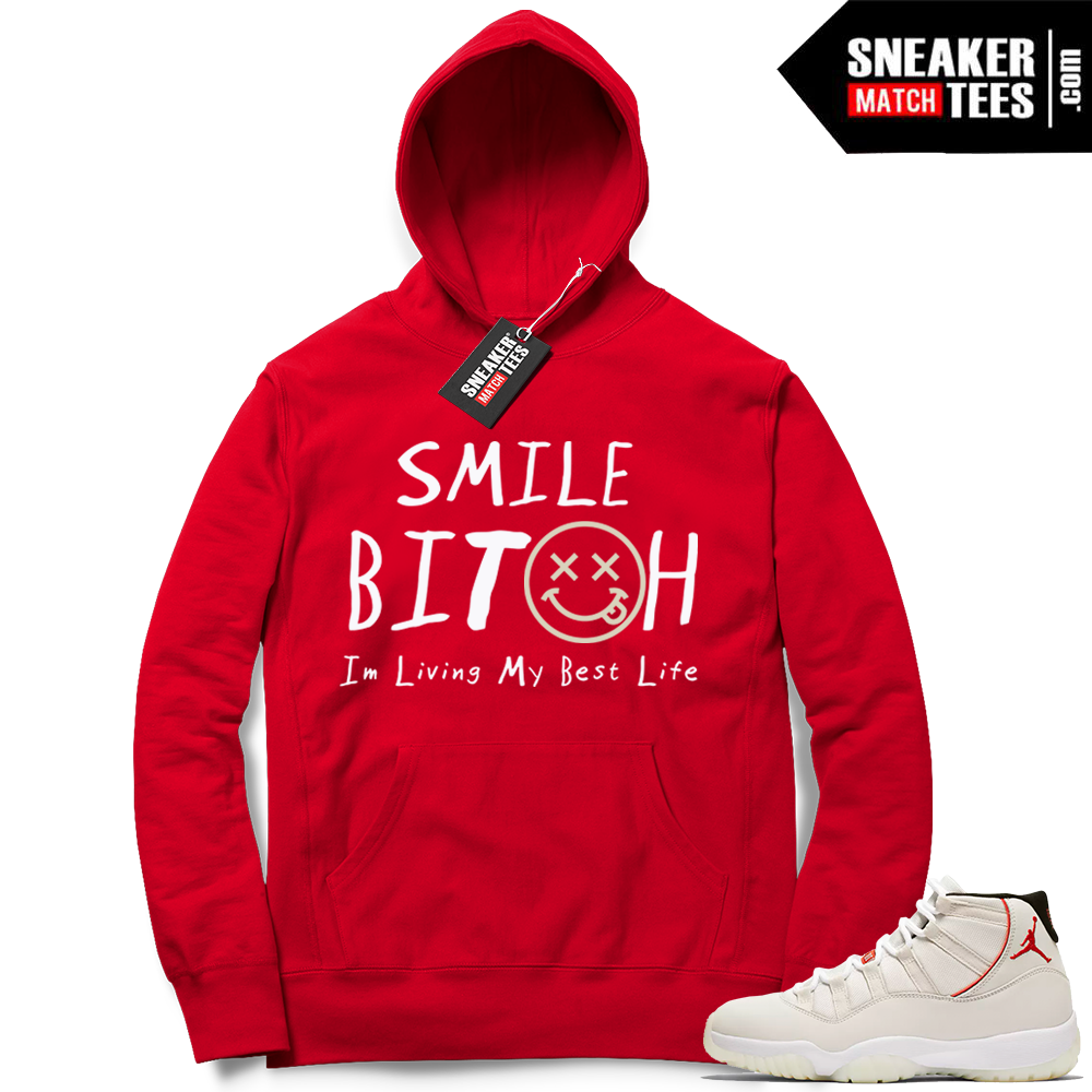Jordan 11 Platinum Tint hoodies