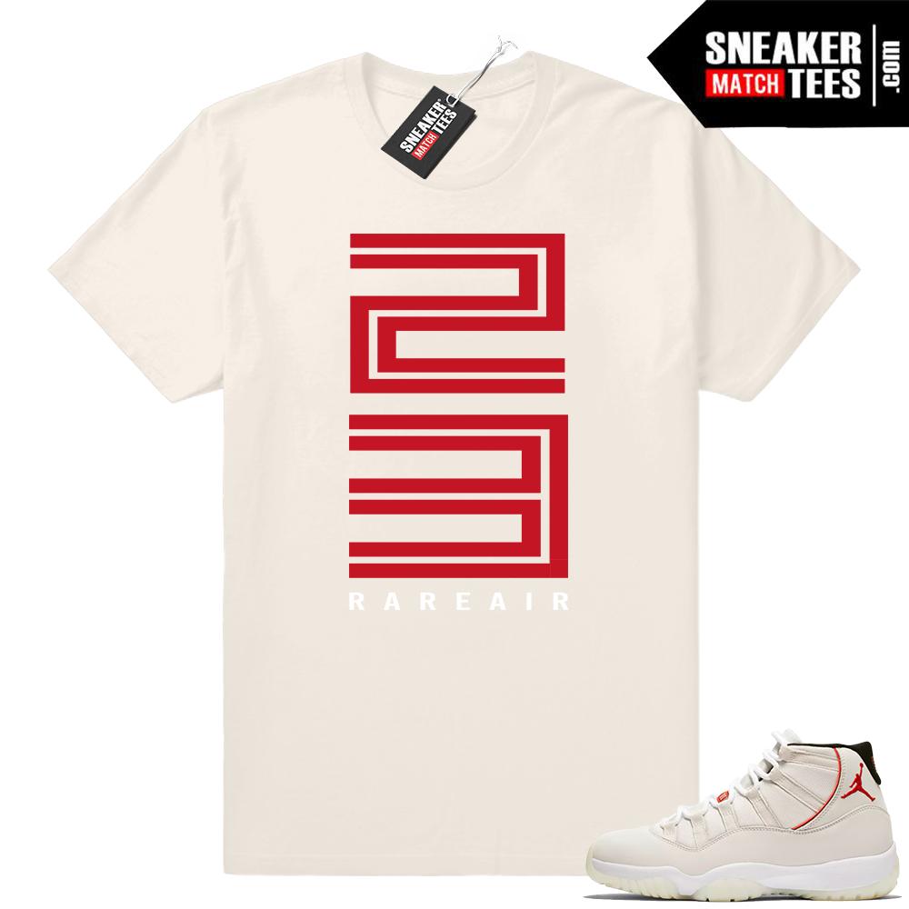 Jordan 11 Platinum tint shirt