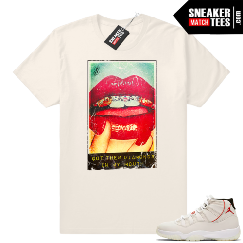 Jordan 11 Platinum tint sneaker tee