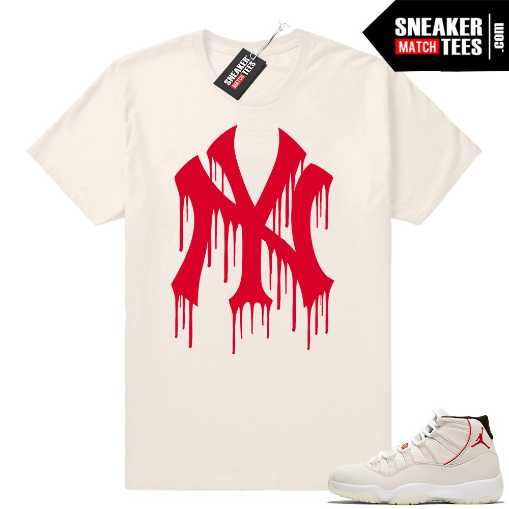 Jordan 11 Platinum tint sneaker tees