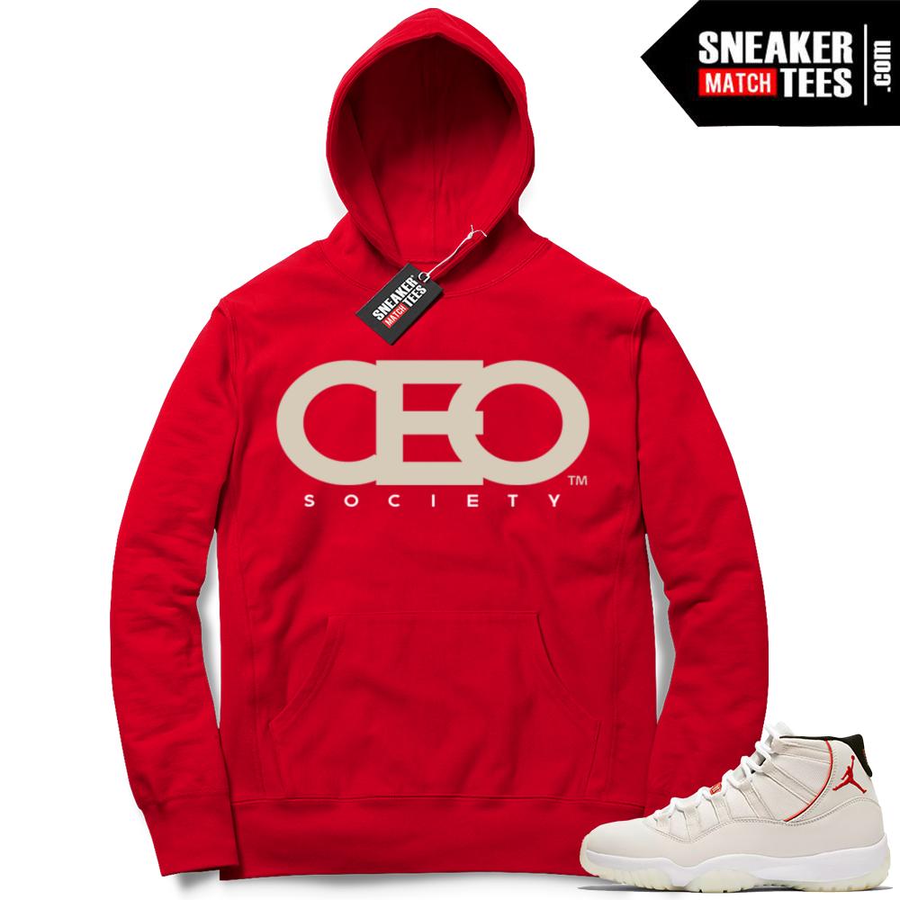 Jordan 11 Red Hoodie CEO