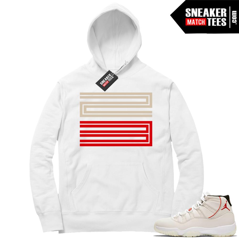 Jordan 11 White 23 Hoodie
