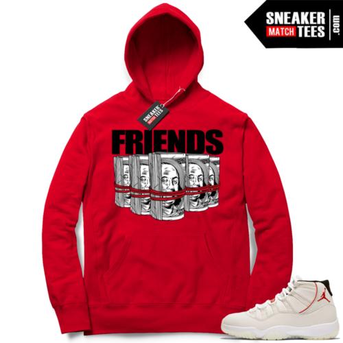 Jordan 11 hoodies Platinum Tint 11
