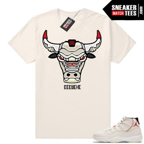 Jordan 11 t-shirt Platinum Tint