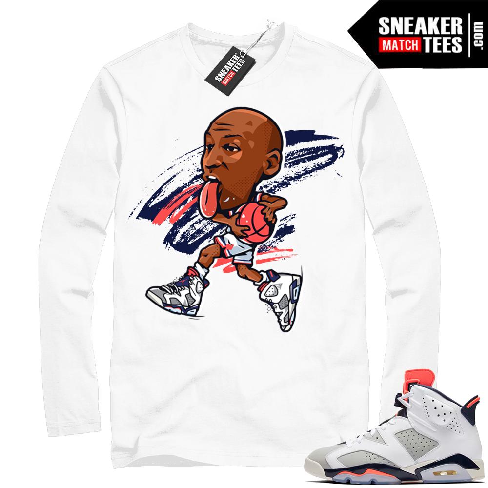 Jordan 6 Tinker white long sleeve shirt