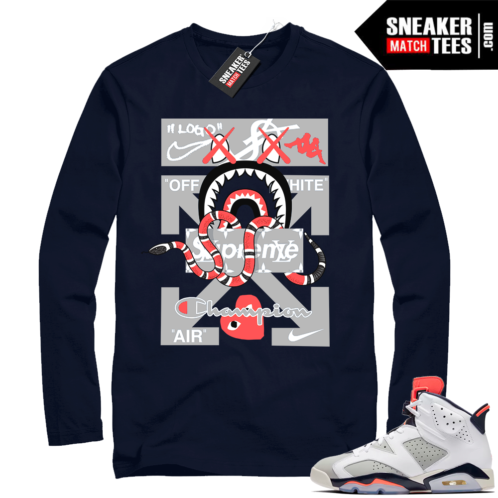 Jordan 6 sneaker tee shirts