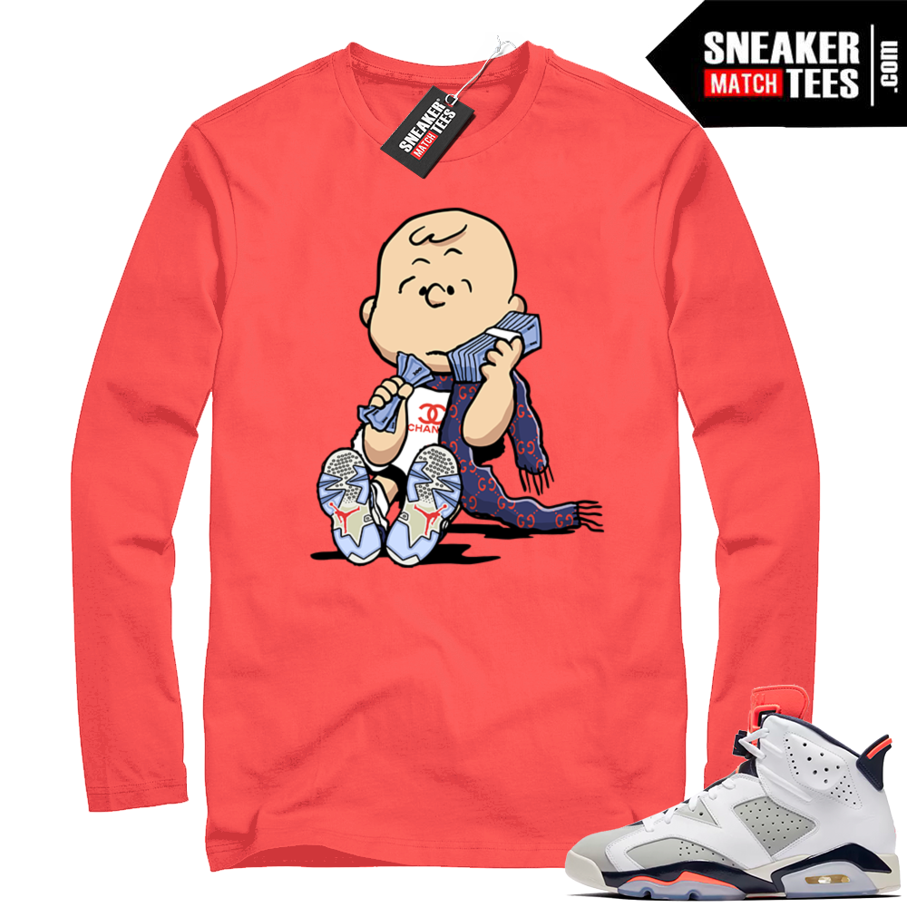 Jordan 6s long sleeve Tinker