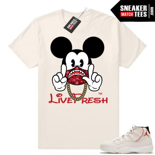 Jordan Platinum 11 Mickey shirt