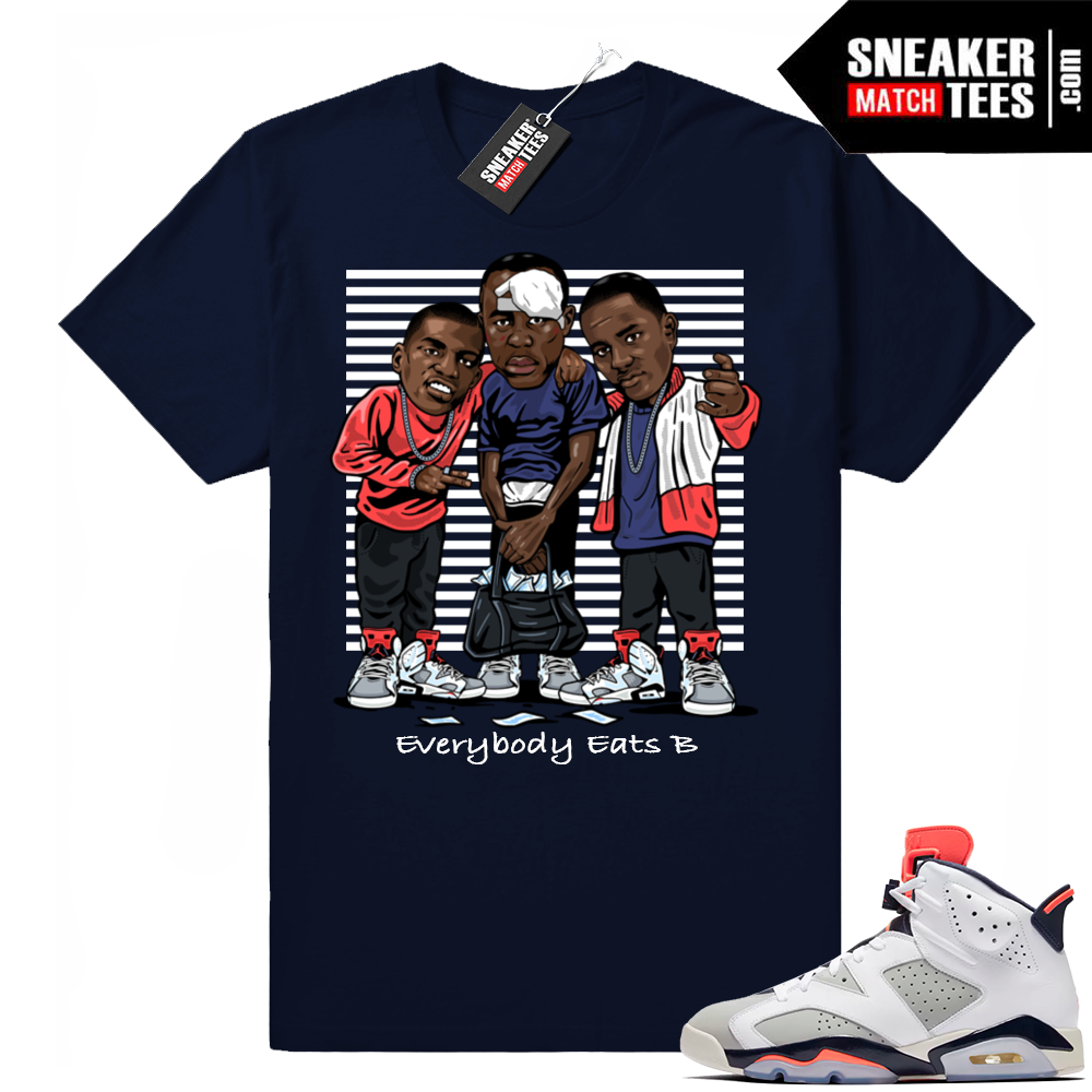 Jordan retro 6 shirt match Tinker