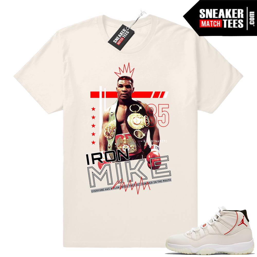 Jordan shirt Platinum Tint 11s